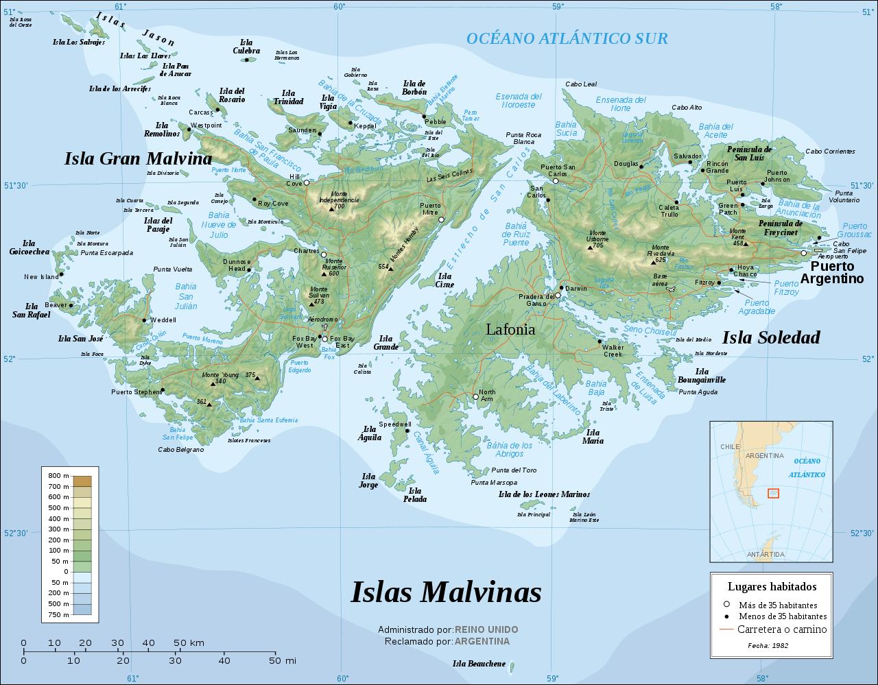 Localizador Malvinas