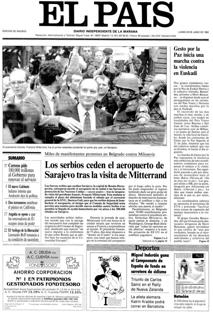 29-06-1992-portada-sarajevo