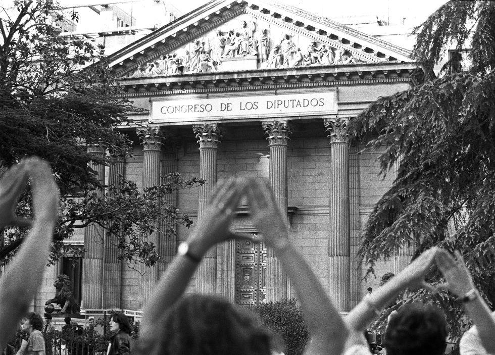 manifestacion a favor del aborto octubre de 1983