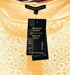 Etiqueta de la campaña Hecho en España de Moda España