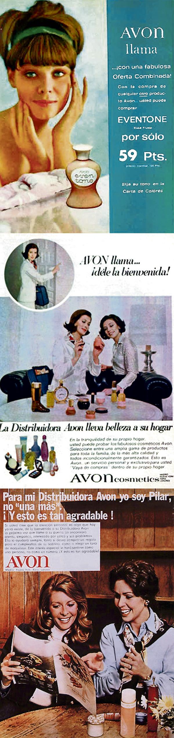 Imágenes de la campaña de Avon en la década de los setenta