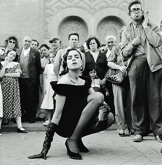 La modelo Cristina Barrera posando para Alfredo García Alix.