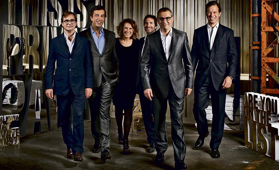 El equipo directivo de Puig (el presidente y consejero delegado, Marc Puig, segundo por la derecha).